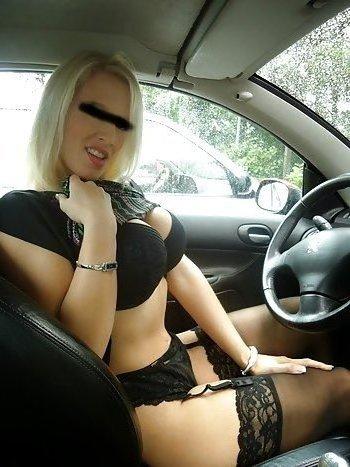 Tabulose Blondine sucht Parkplatzsextreffen